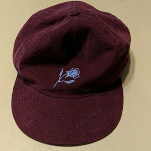 Snapback corduroy hat